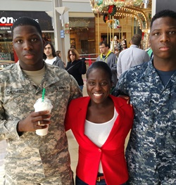Eboni Caldwell with her sons