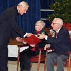 Bill and Maureen Billerbeck receive Archdiocese of Washington's 75th Anniversary Award from Cardinal Wuerl